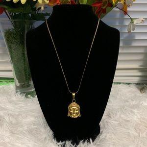 Jewelry - 18k gold filled necklace w/ buddah pendant.